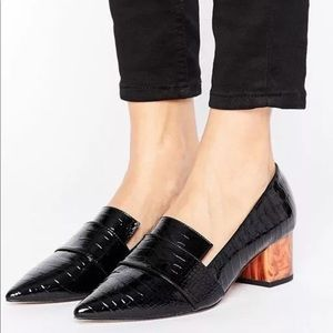 ASOS Silence Heel Loafers size 9 eur 39